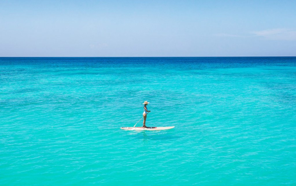 Paddleboarding in the West Indies