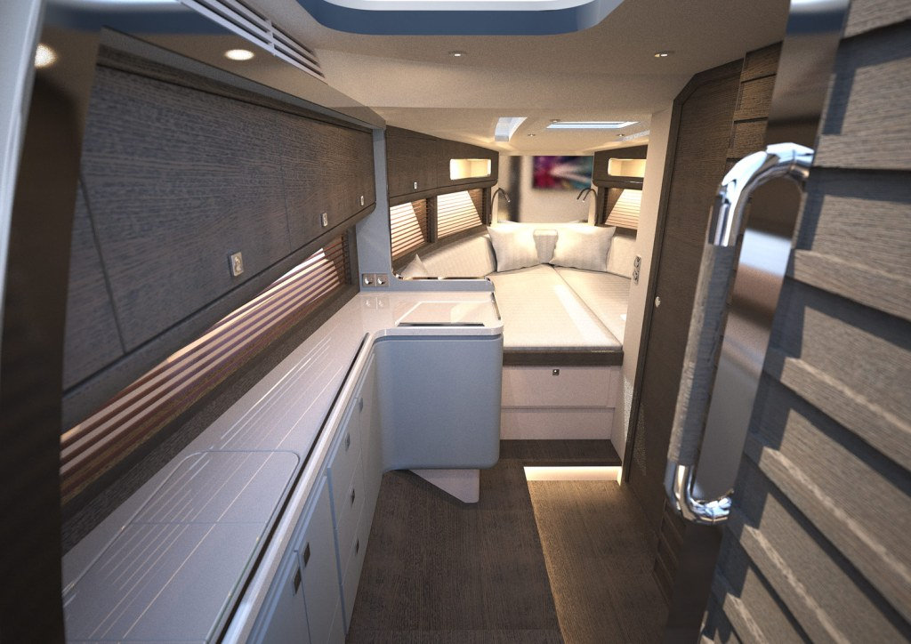 The Windy 37 Shamal makes great use of all available space