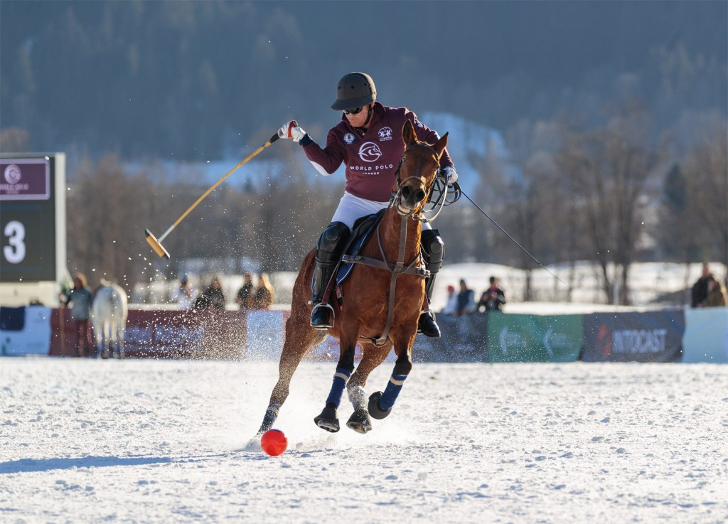 World Polo League in action at the 2020 Snow Polo World Cup