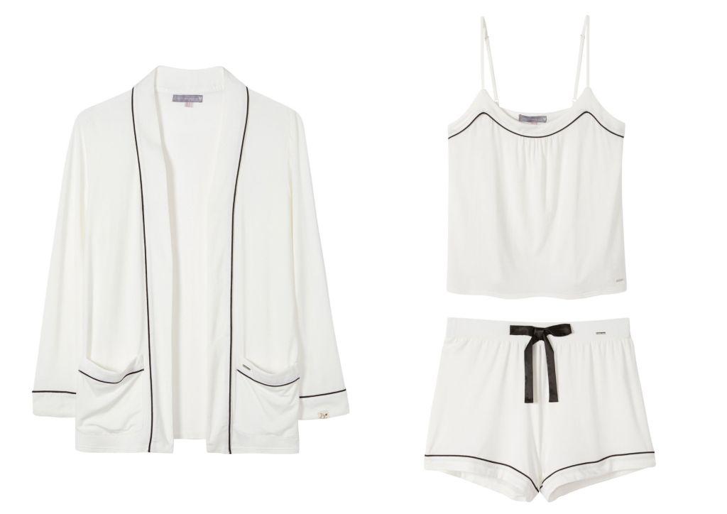 A Pretty You London Bamboo nightwear in white