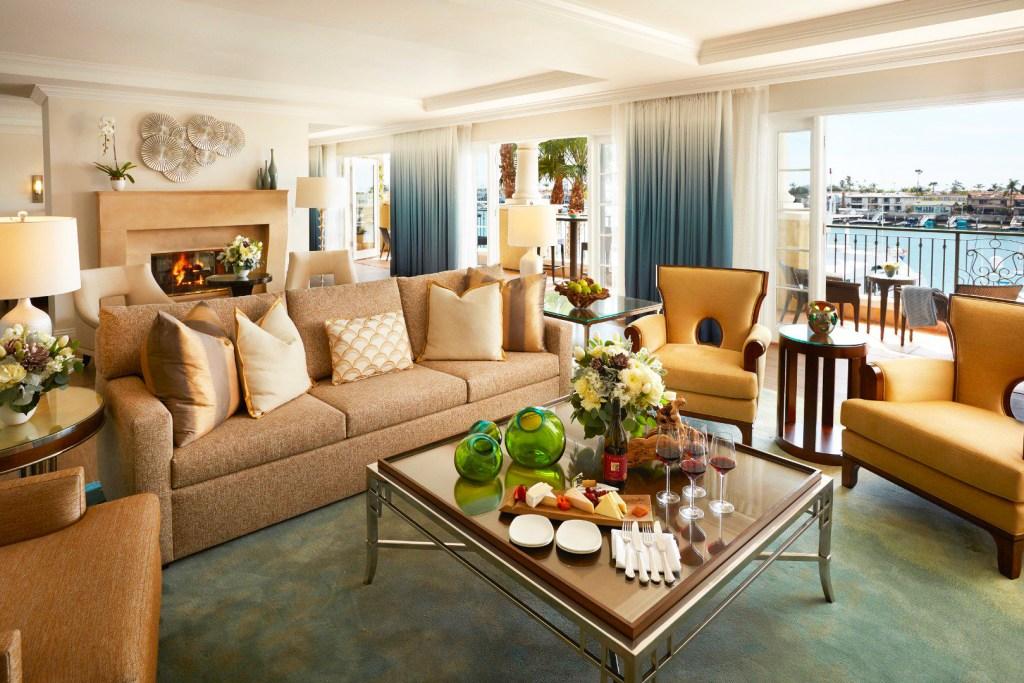 Balboa Bay Resort Presidential Suite in Newport Beach California