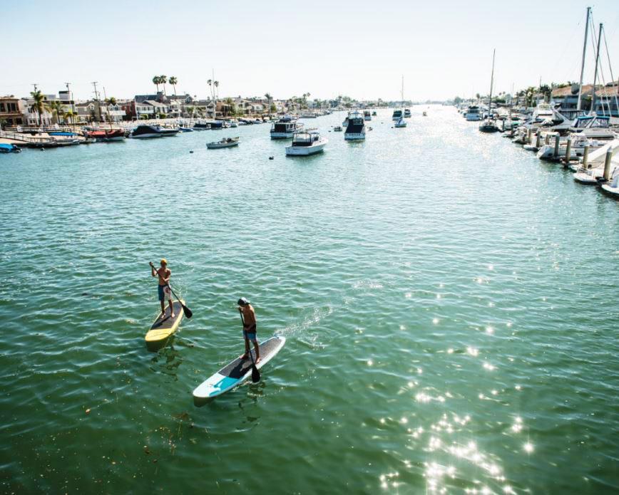 Stand-up paddleboarding – Newport Beach, California