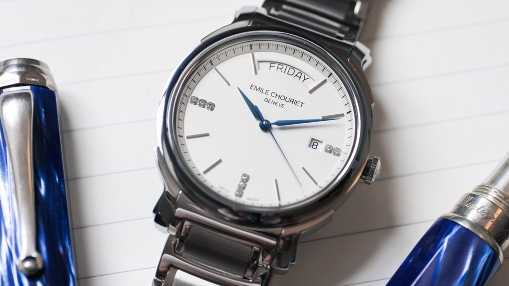 Emile Chouriet Heritier Weekly Date Timepiece