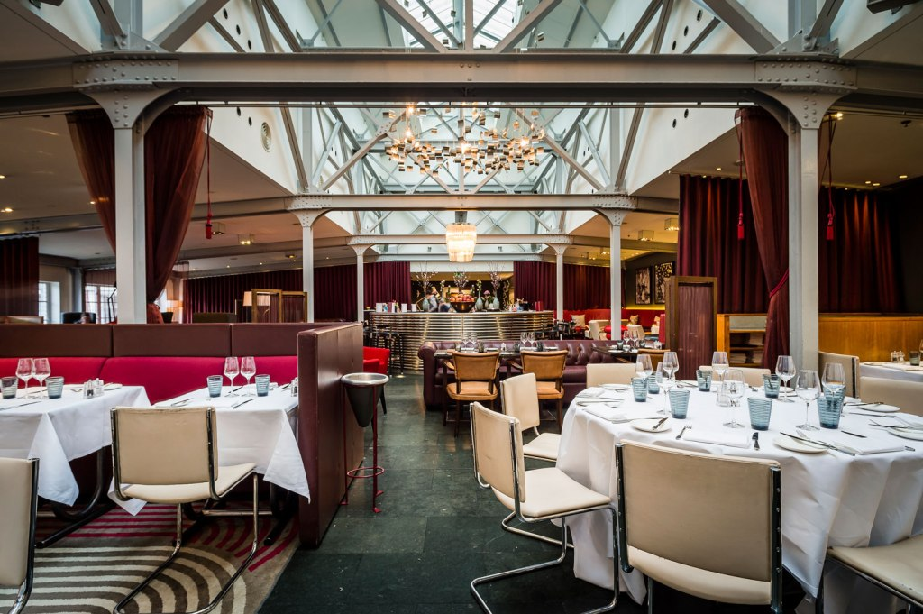 The main dining area in Bluebird Chelsea