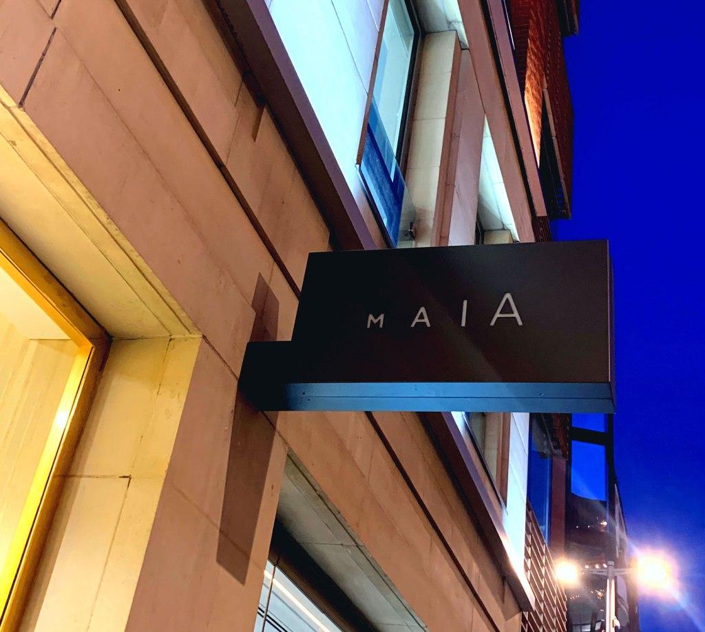 MAIA In Knightsbridge exterior signage