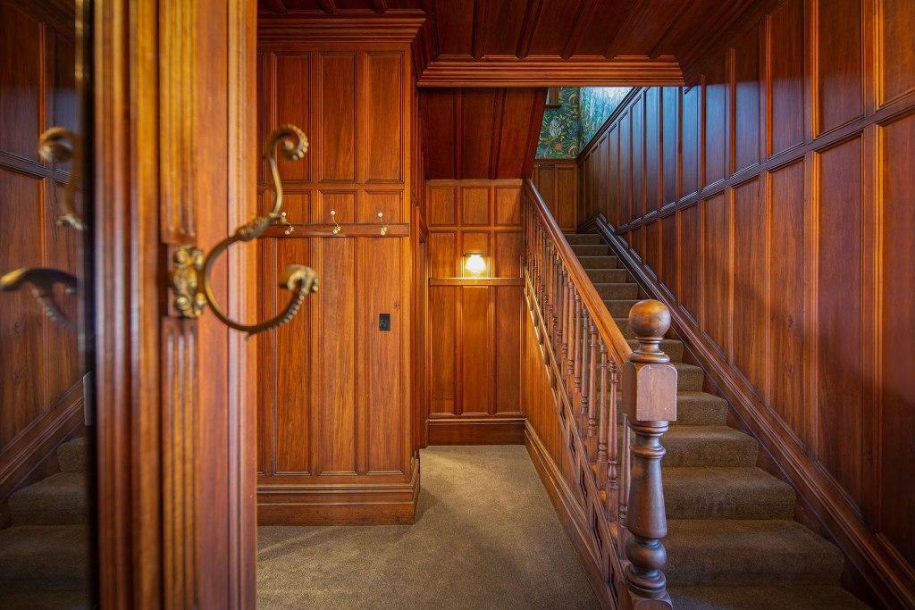 Wood panelling inside the Vicarage Gerladine New Zealand
