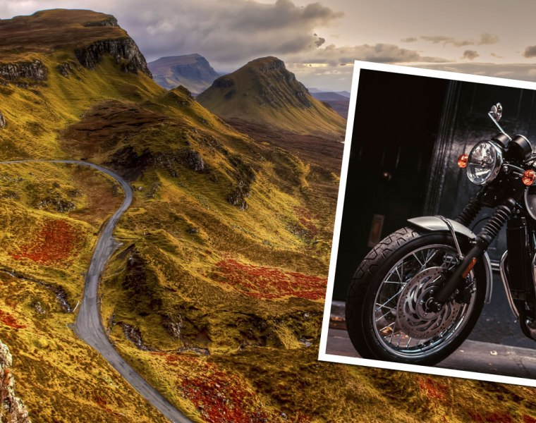 The Beauty Of The Triumph T120 Bonneville In Bonnie Scotland