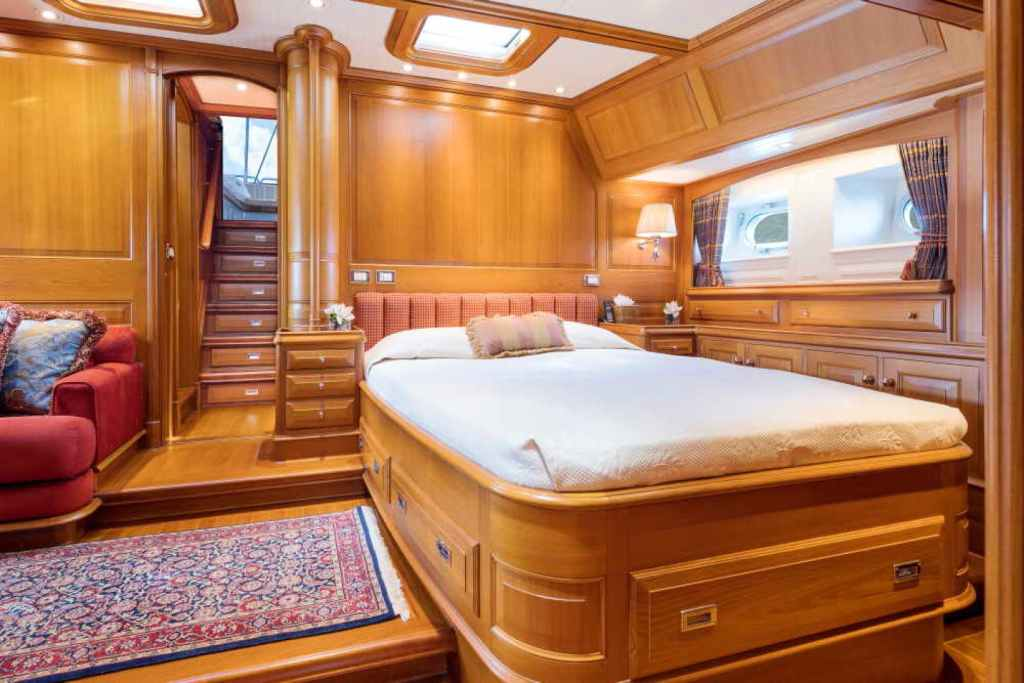 BLUE TOO sailing yacht bedroom cabin