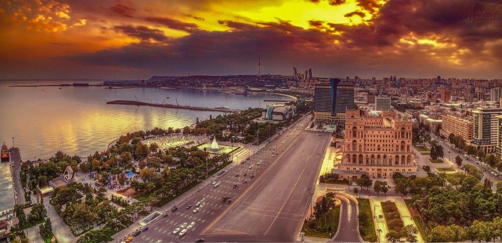 Baku at sunset