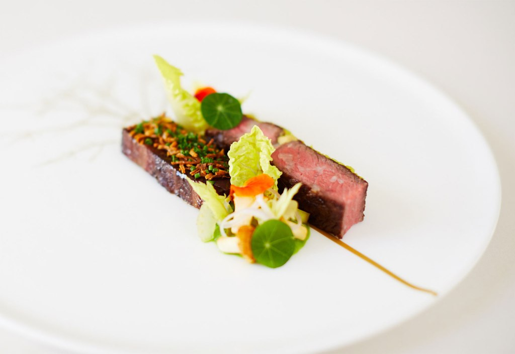 Beef dish by Adam Smith of Restaurant Coworth Park