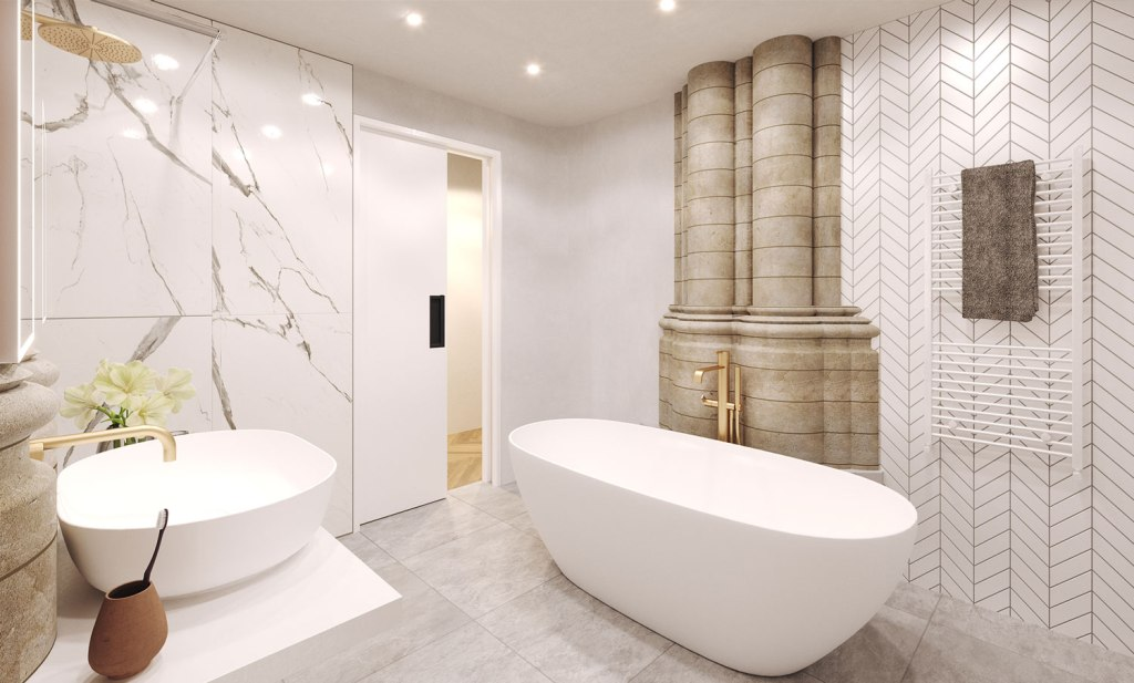Bower & Barnabas bathroom
