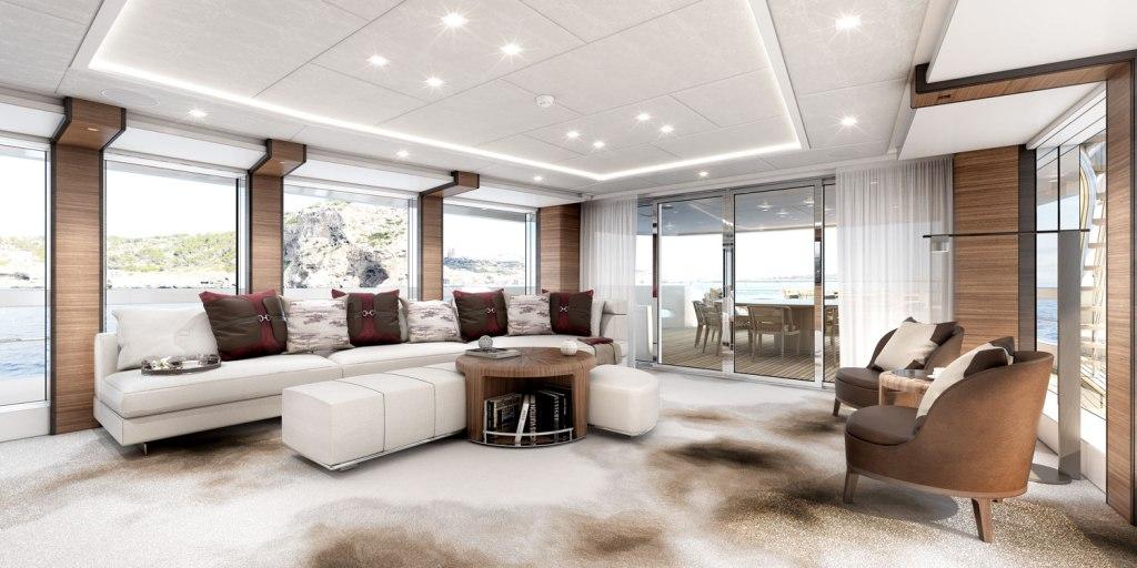 Heesen Yachts Project Altea sky lounge