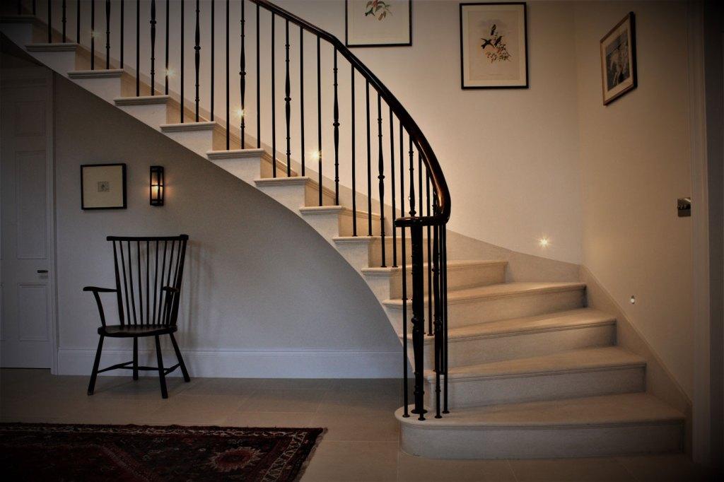 Ian Knapper stone staircase Tregavethan Manor Cornwall