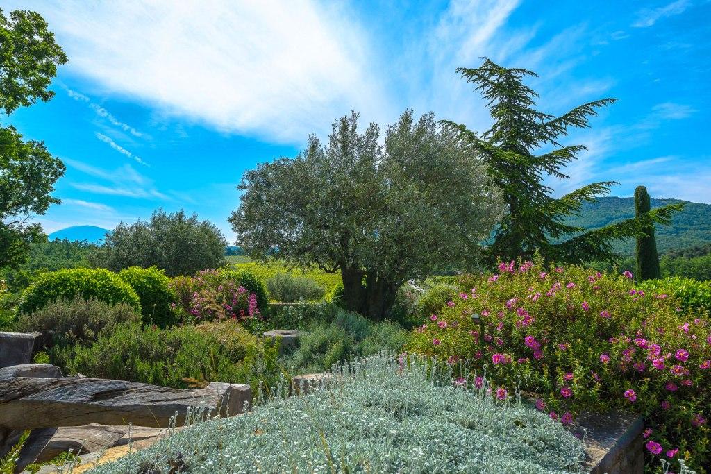 The beautiful gardens at La Verrière