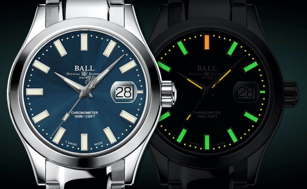 Ball Watch Engineer III Marvelight Chronometer dial luminosity