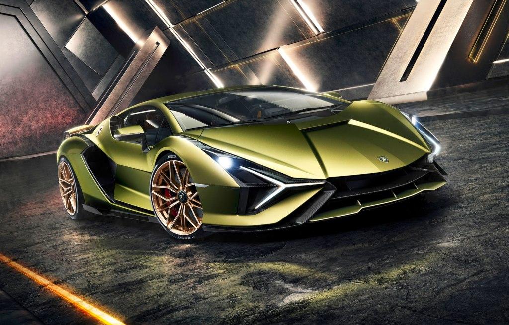 Lamborghini Sian in metallic green