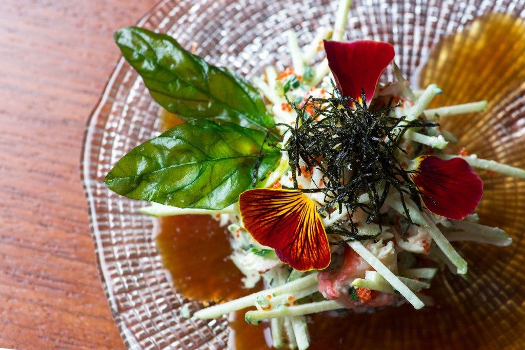 NOVIKOV - Crab Apple Salad with Wasabi Dressing