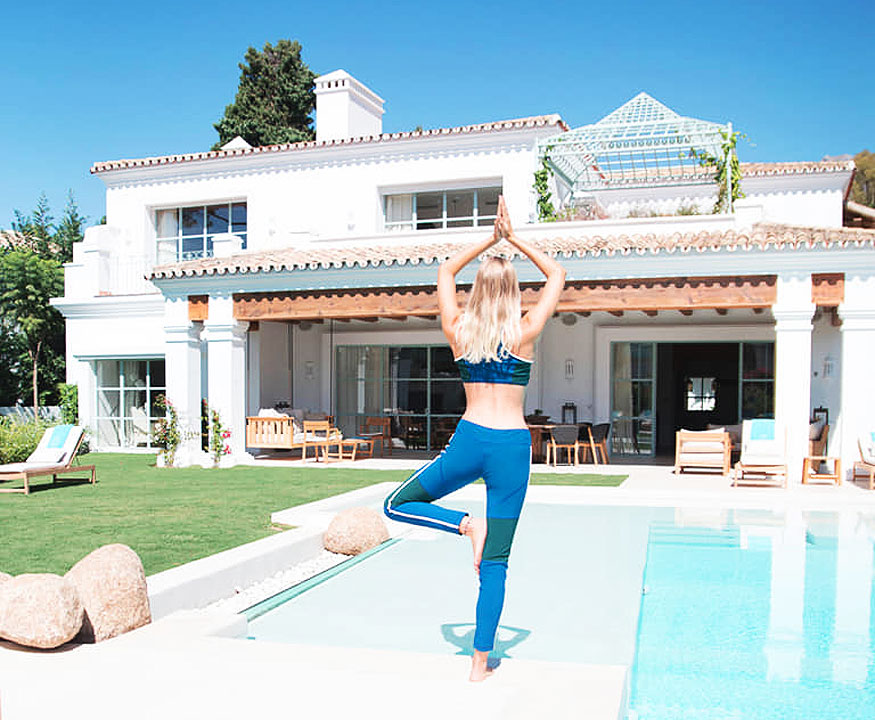 Yoga at the Marbella Club