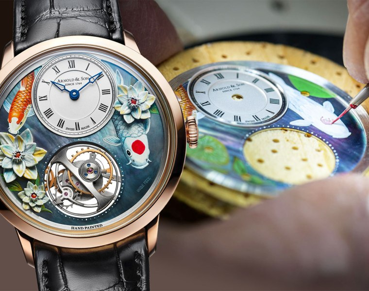 Arnold & Son's Ultrathin Tourbillon Koi is Art for the Wrist