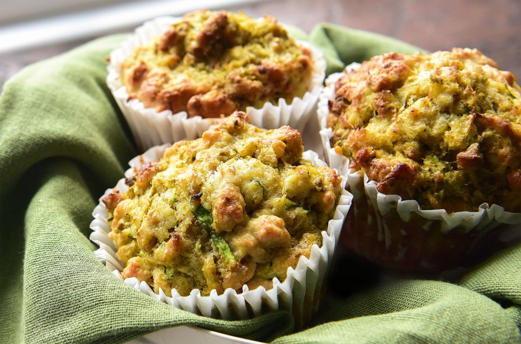 Freshly made Carrs Flour savoury muffins