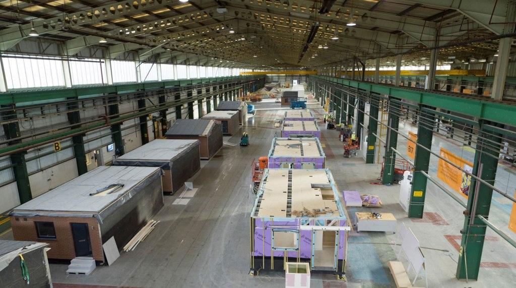 Inside ilke Homes factory in Yorkshire