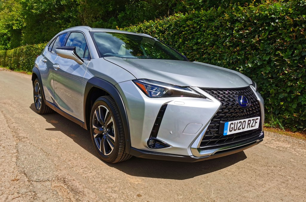 Lexus UX 250h Takumi E-Four three-quarter view
