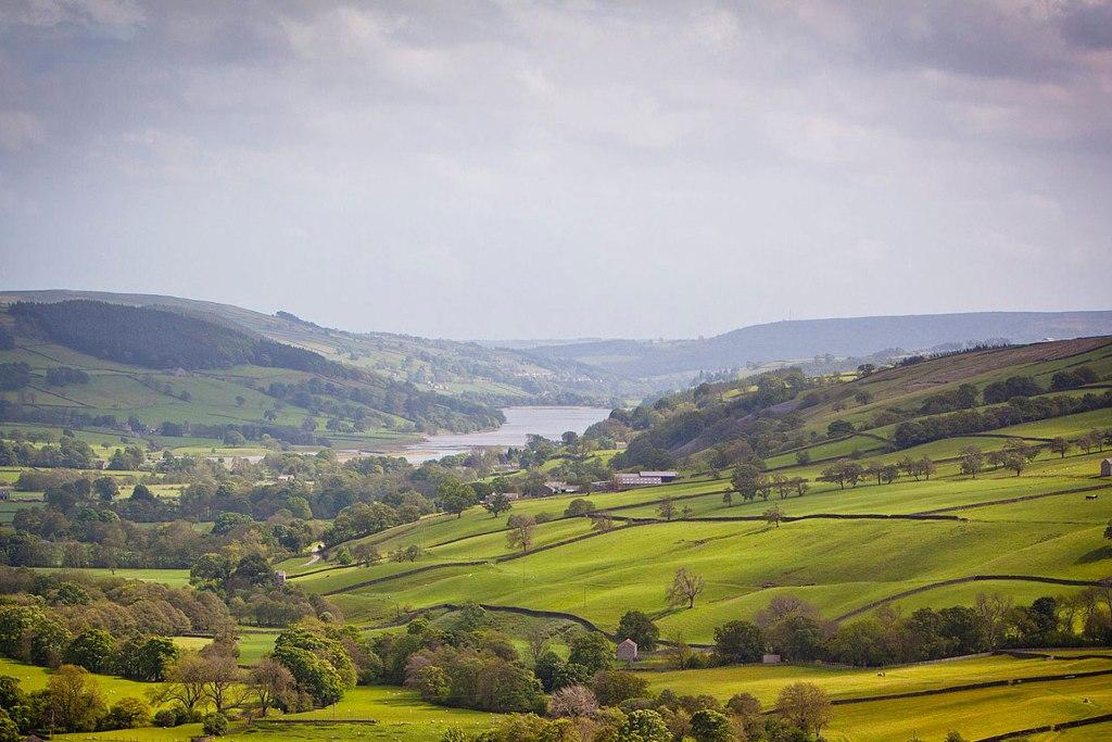 Nidderdale countryside in Yorkshire