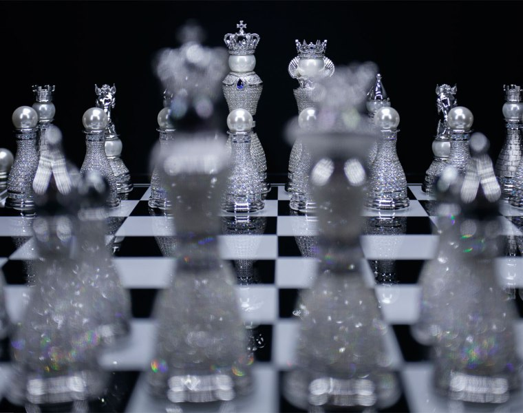 Pearl Royale the world's most expensive chess set
