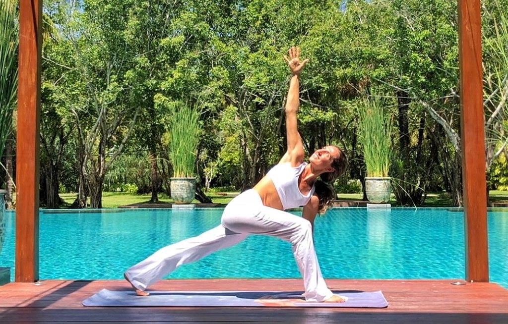 Poolside Yoga at The Sarojin - Khao Lak Resort