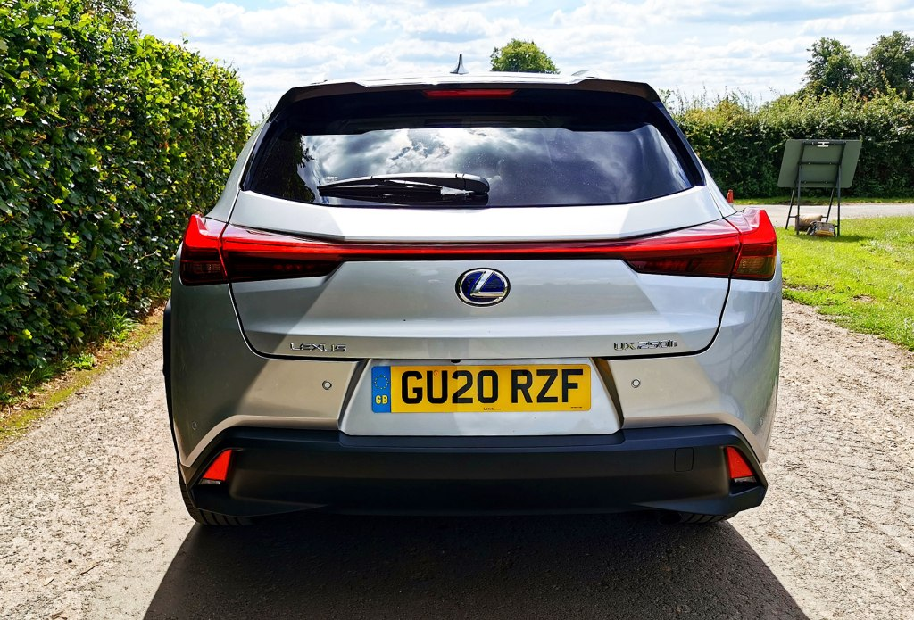 Rear of silver Lexus UX 250h Takumi E-Four