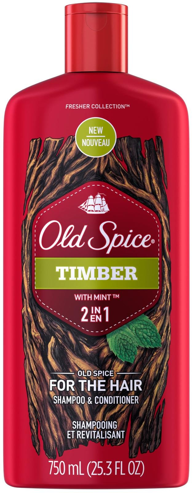 Old Spice timber with mint