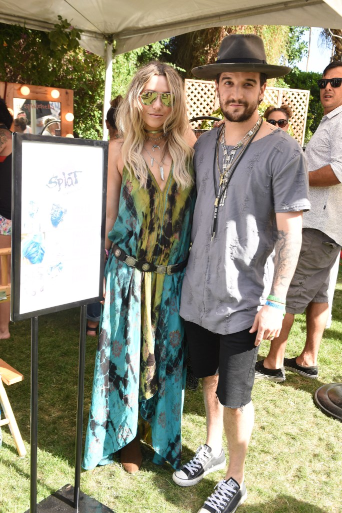 BC Jean and Mark Ballas attend Lucky Lounge Presents Desert Jam