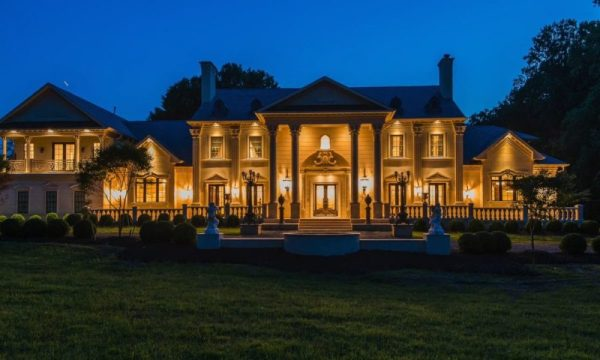 Luxury and Elegant Limestone Mega Mansion Inspired by a