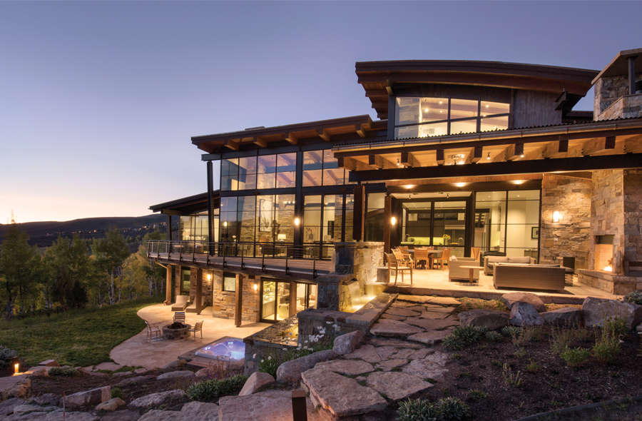 Sophisticated yet comfortable mountain modern home offers ... on Fancy Outdoor Living id=33624