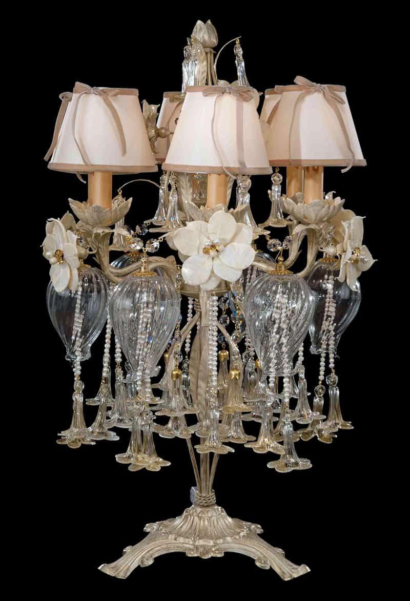 Qual è il posto migliore per le lampade a sospensione di design? Lampade Da Tavolo Di Design Abat Jour Moderne E Classiche In Cristallo Di Murano Lusso Artigianale E Artistico
