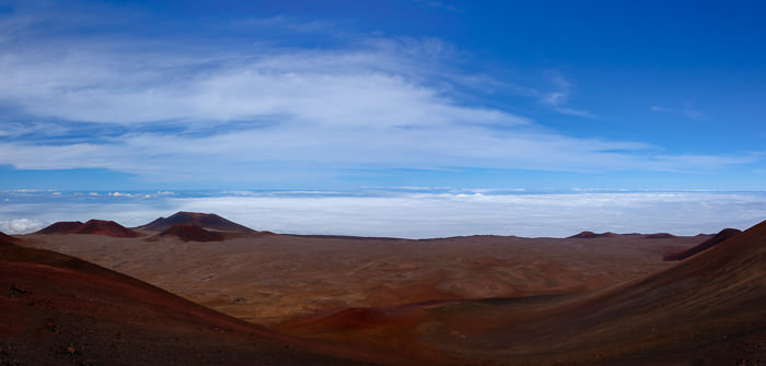 Panarama of Mauna Kea summit