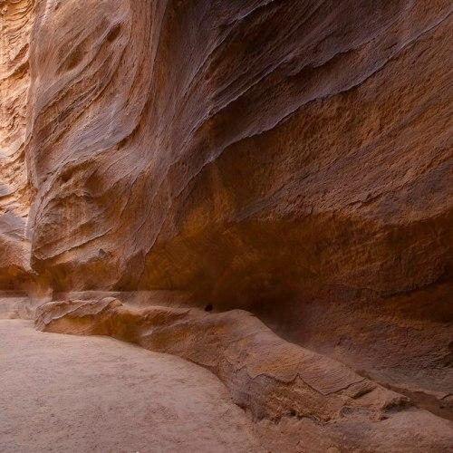 A horse carriage in Siq canyon, Petra, Jordan