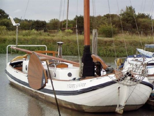 1907 Dutch Sailing Barge Skutsje Yacht Boats Yachts