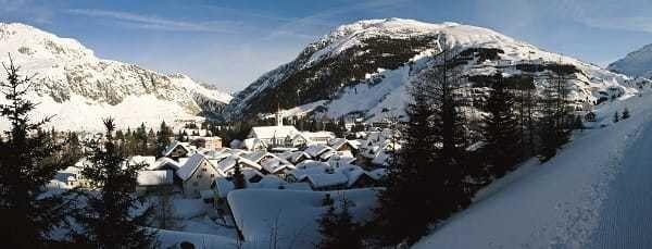 Town of Andermatt in the Swiss Alps