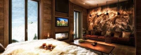 Interior of the Chedi Hotel in the Andermatt, Switzerland