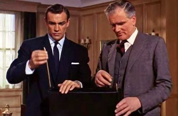 James Bond and his secret spy briefcase