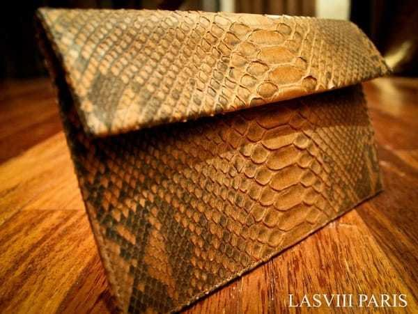 LASVIII Luxury Leather Clutch