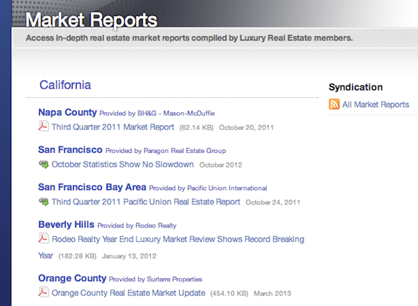 luxury real estate market reports