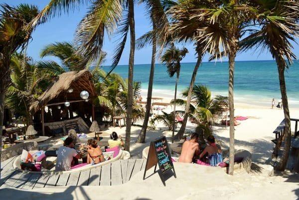 Restaurant and DJ booth at Papaya Playa Project