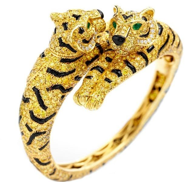 Double Headed Tiger Bangle by Cartier