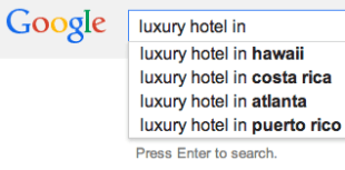 luxury hotel marketing 2014 google