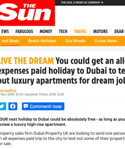 luxury dubai job listing marketing
