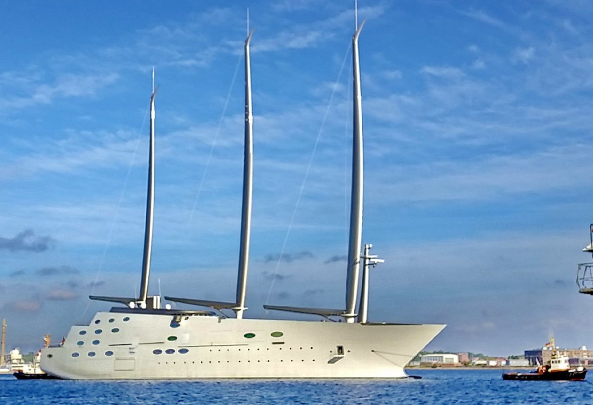 Luxury Motor Yacht A Meets Sailing Yacht A