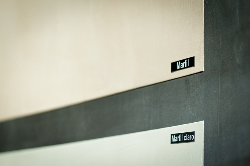 muestras de color Showroom microcemento Luxury Ciment