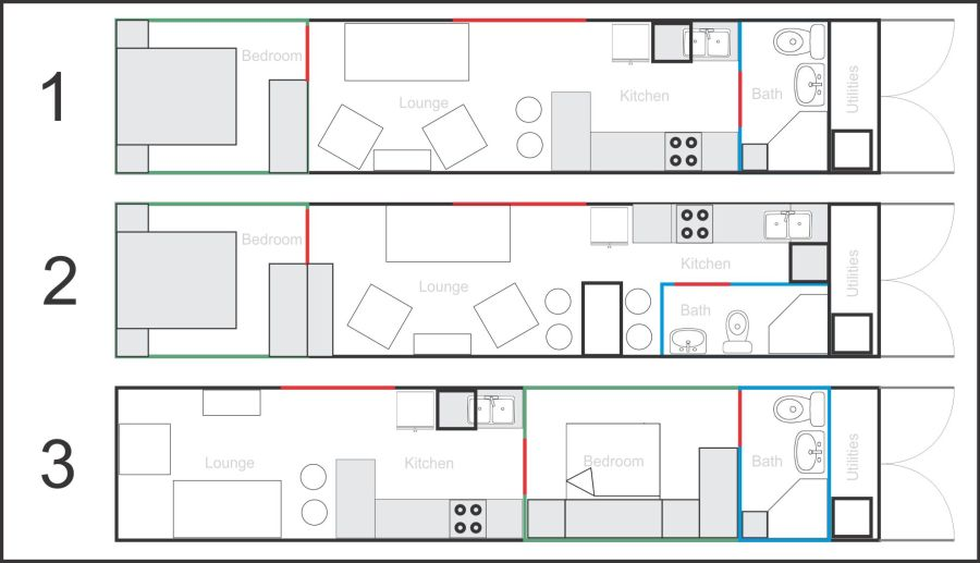 More of My Big Ideas - Basic Floorplans for 1x 40ft